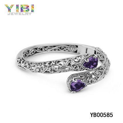 Amethyst gemstone bracelet jewelry