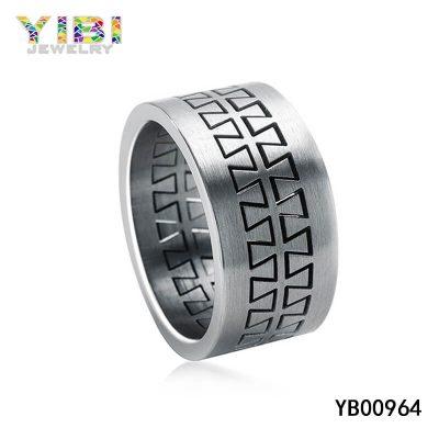Ring aus gebürstetem Edelstahl 316L | Shenzhen Schmuck Hersteller