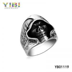 Gothic Surgical Edelstahl Sensenmann Ring
